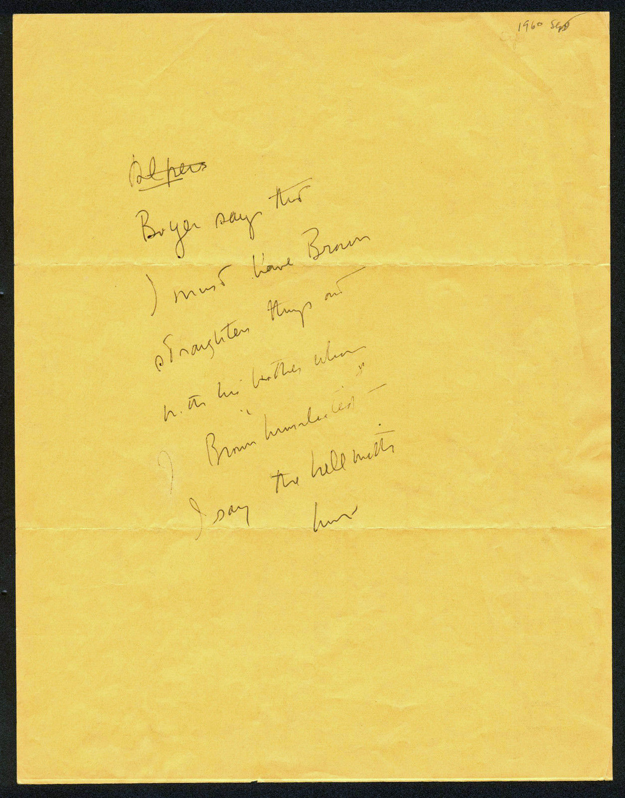 John F Kennedy Authentic Handwriting on 8.5x11 Paper As Senator JSA Z02612