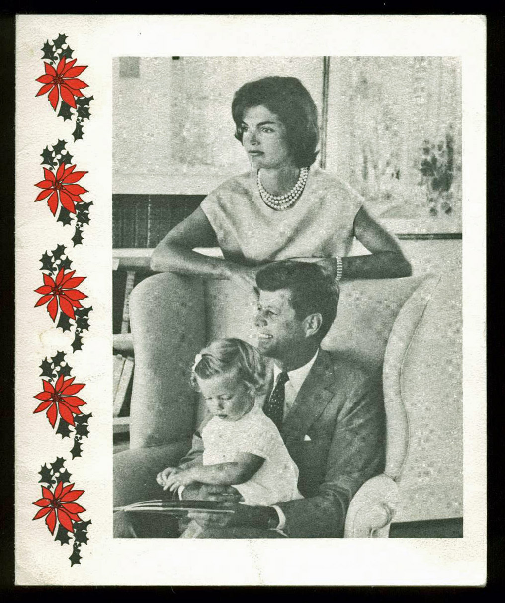John F. Kennedy - Jack- Authentic Signed 1959 Christmas Card PSA DNA AA08920