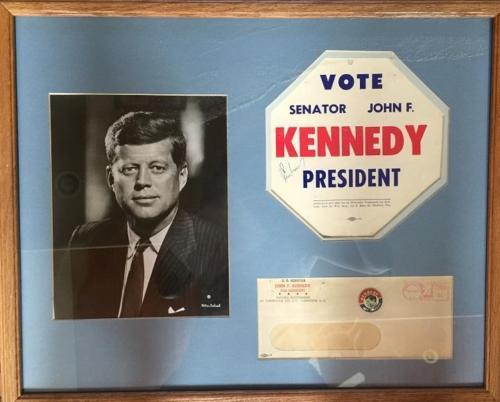 John F. Kennedy- Signed Vote Senator John F. Kennedy President Campaign Piece