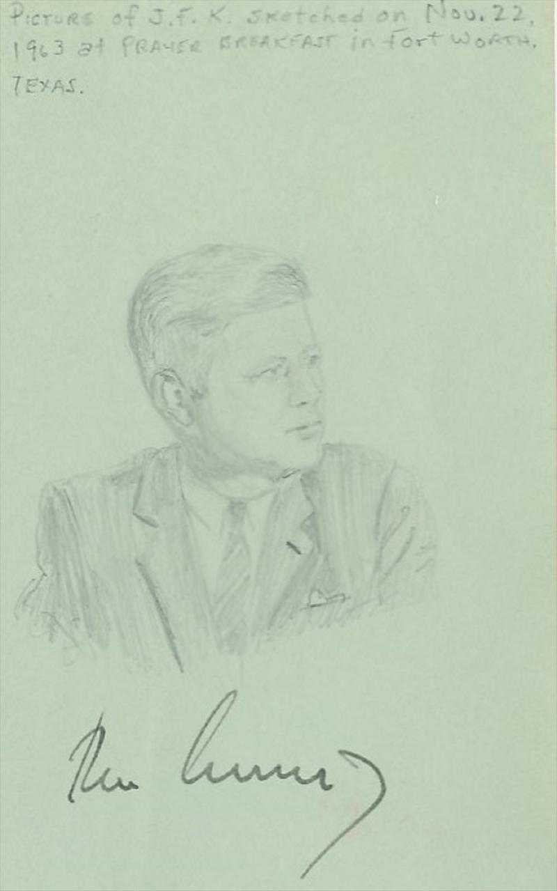President John F. Kennedy- Perhaps his last Autograph Ever!!!!!