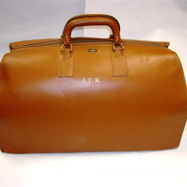 John F Kennedy Leather Travel Bag Case JFK