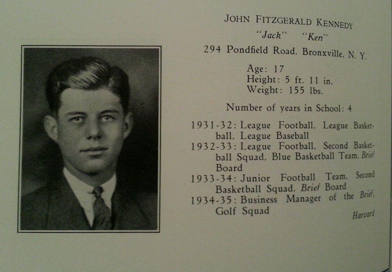 John Fitzgerald Kennedy Senior High School Yearbook 1935 Rare JFK